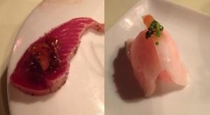 Maguro Tataki y Niguiri de pez mantequilla