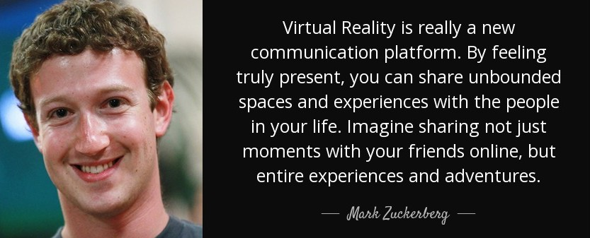 realidad virtual - mark zuckerberg